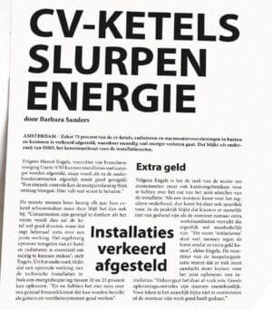 cv-ketels slurpen energie
